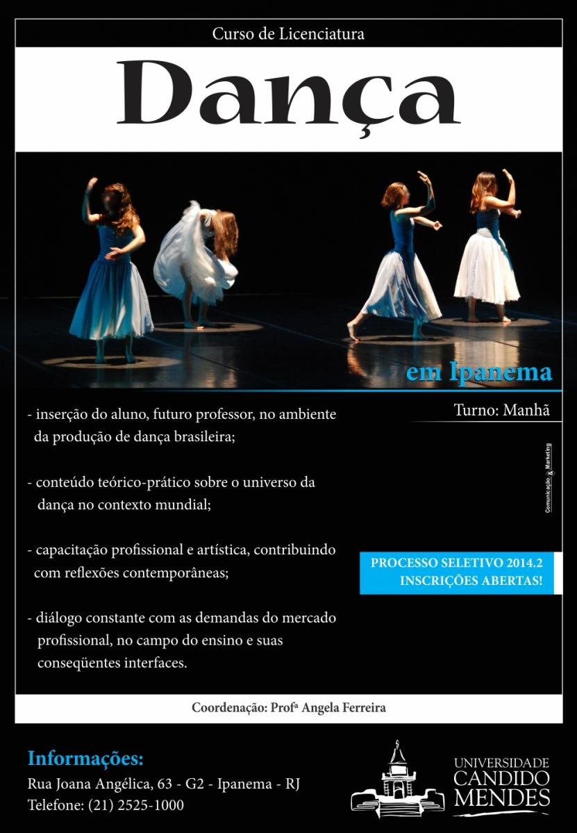 Licenciatura em Dança na Universidade Candido Mendes (RJ): curso de graduação recebe inscrições para novas turmas em 2014.2
